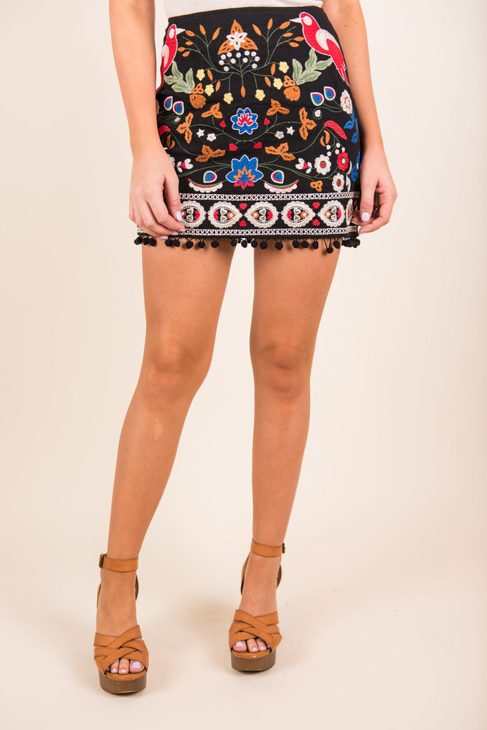 Hippy Queen Skirt, Black