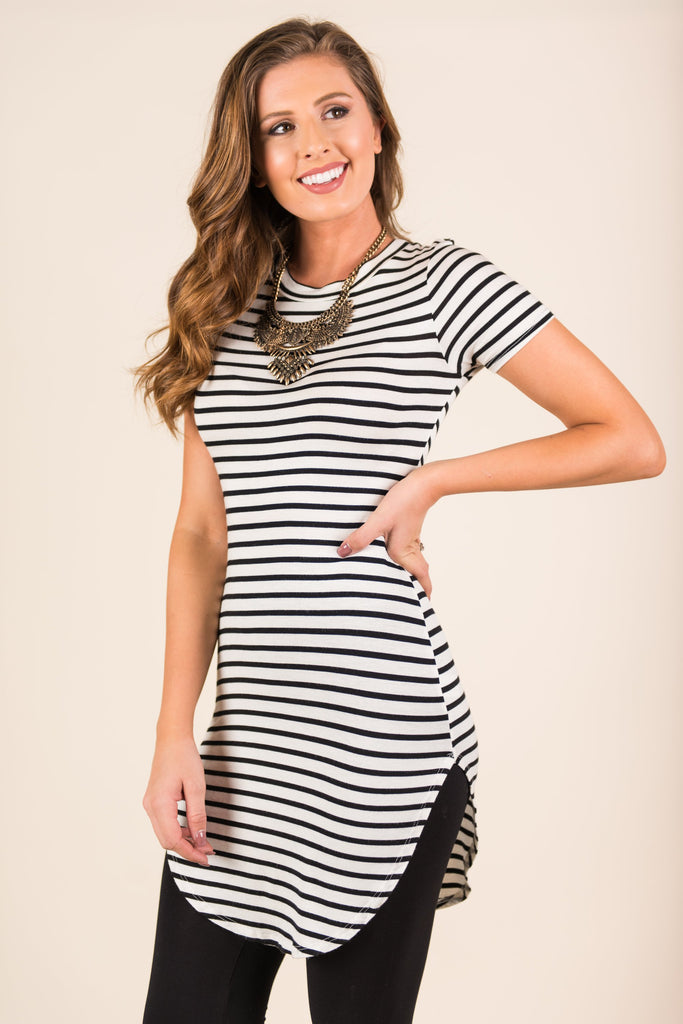 Easy As Love Dress, Black-White