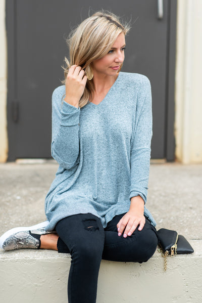 Calling My Name Tunic, Blue