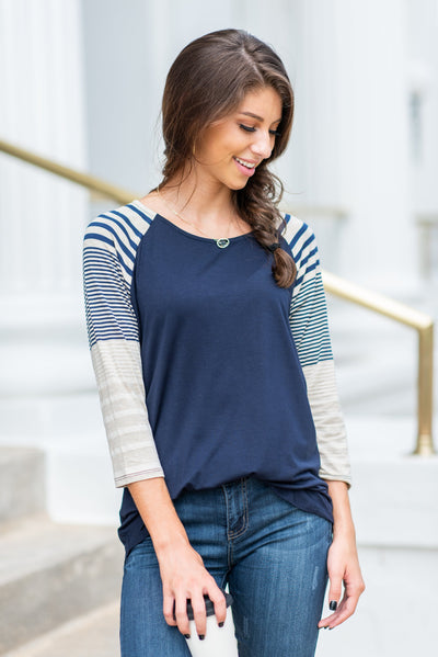 Fun To Relax Tee, Navy