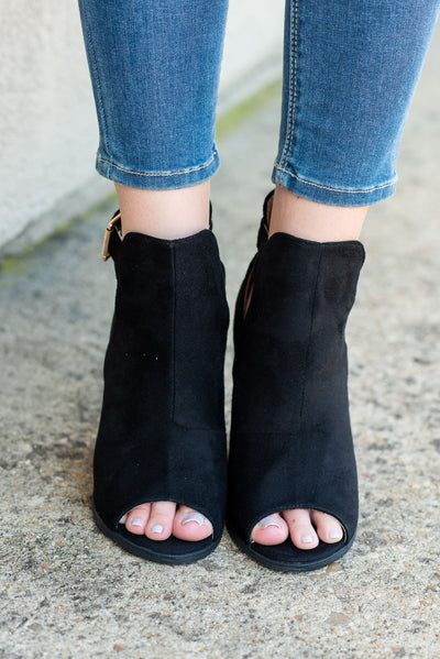 Height Of Happiness Booties, Black