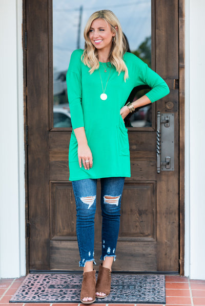 Medley In Love Tunic, Kelly Green