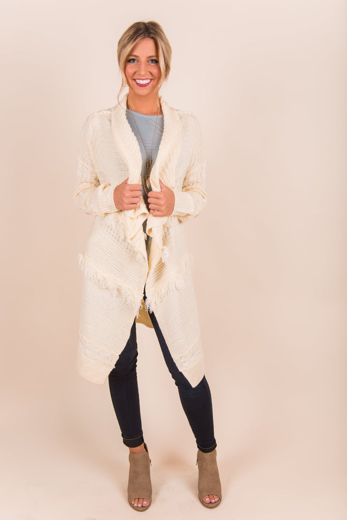Believe the Hype Cardigan, Ivory