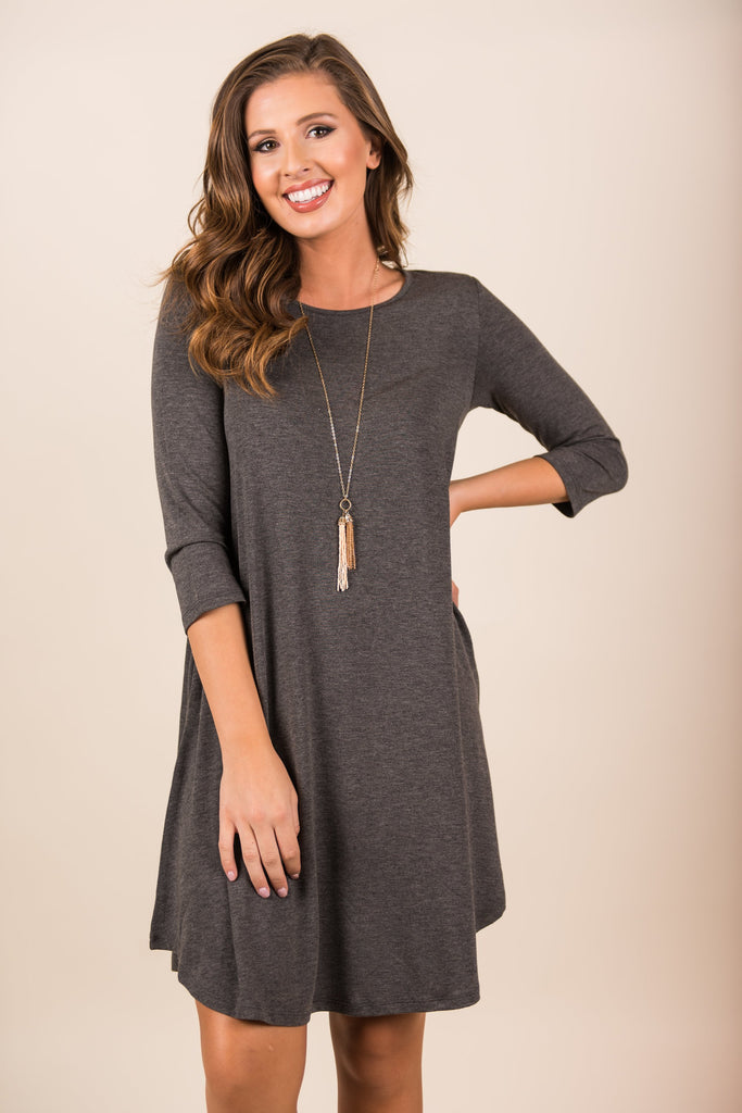 The Perfect Match Dress, Charcoal