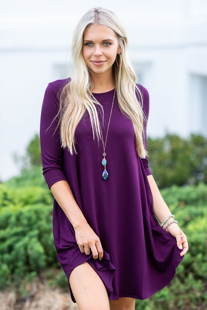 The Perfect Match Dress, Plum