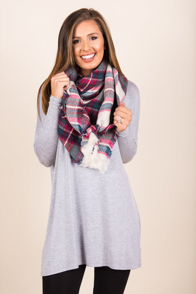 Finally Got You Tunic, Heather Gray