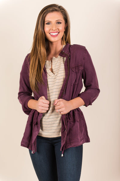 Significant Style Jacket, Plum