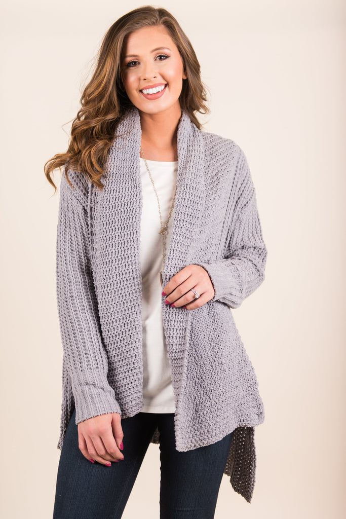 Comfy And Cozy Cardigan, Gray