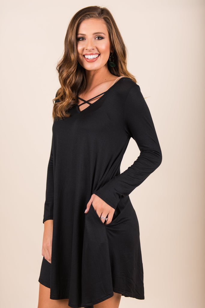 Wake Up Call Dress, Black
