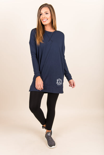 Slow and Steady Tunic, Navy