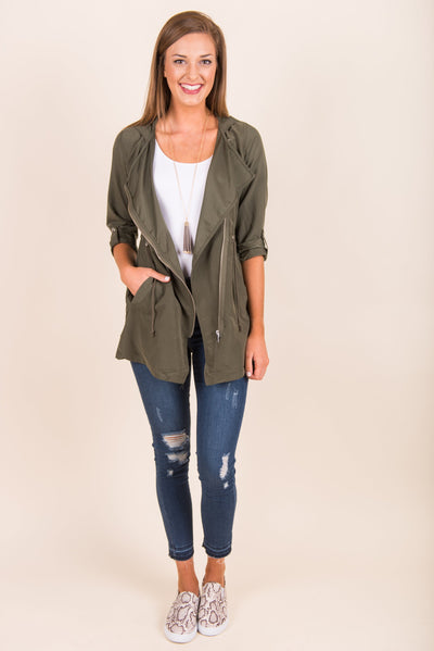 Serious Business Jacket, Olive