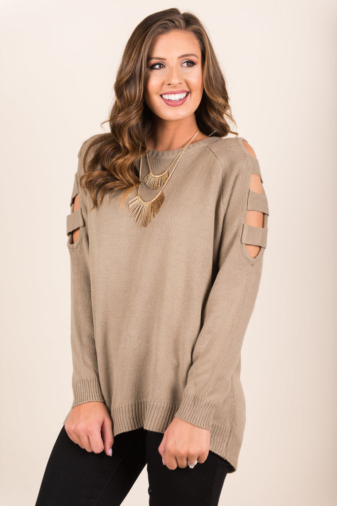 The Space Between Sweater, Taupe