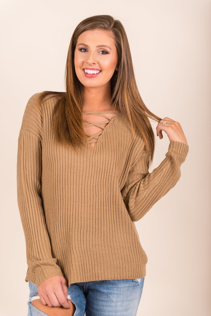 Show Me The Love Sweater, Tan
