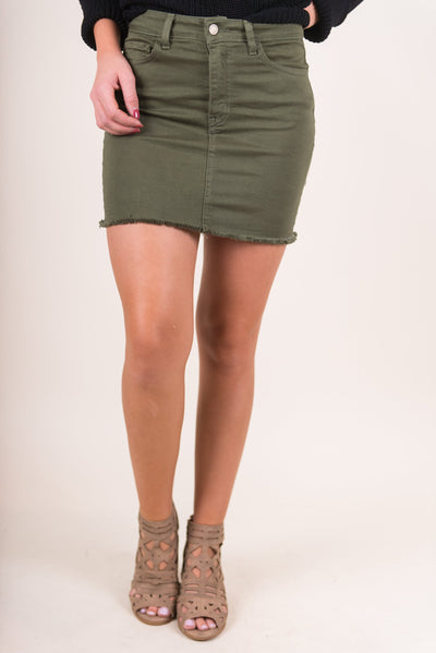 The Show Stopper Skirt, Olive