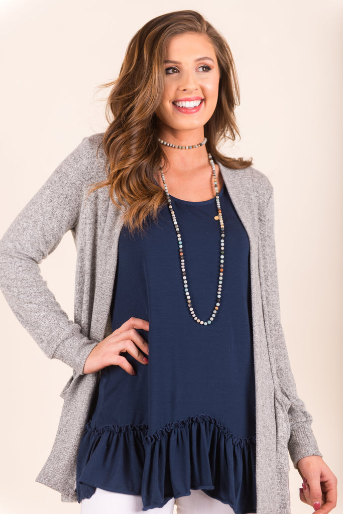 Closer To You Cardigan, Heather Gray