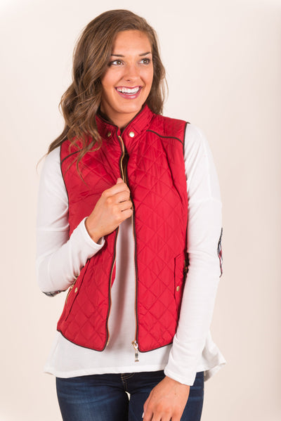 City Streets Vest, Red