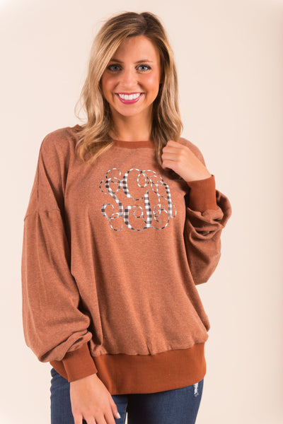 Leisure Thing Sweatshirt, Rust