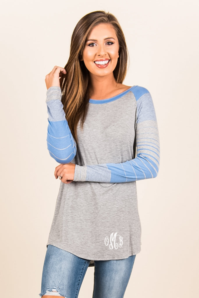 My Go To Tee, Heather Gray-Blue
