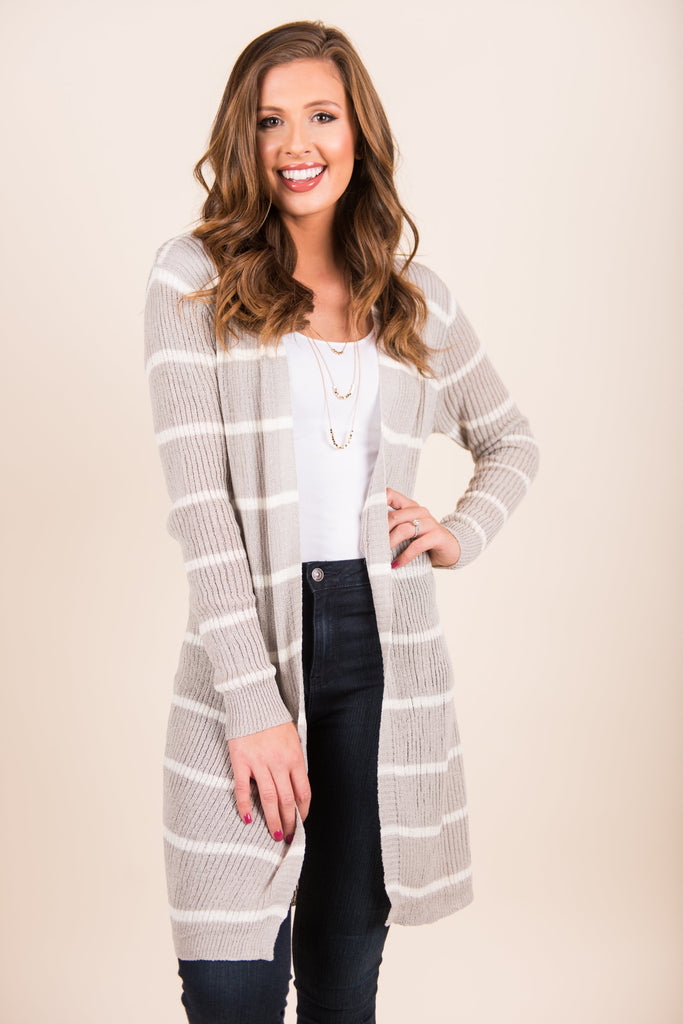 Looking For Luxury Cardigan, Gray-White