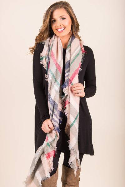 No Place Like Home Scarf, Light Pink