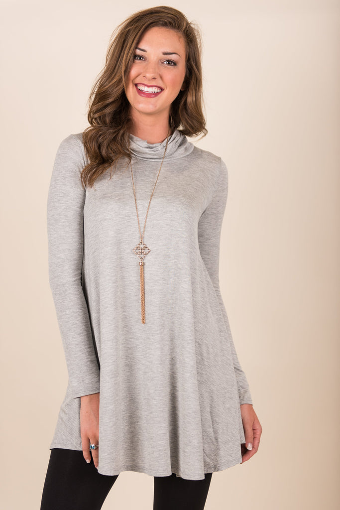 The Big Story Top, Heather Gray