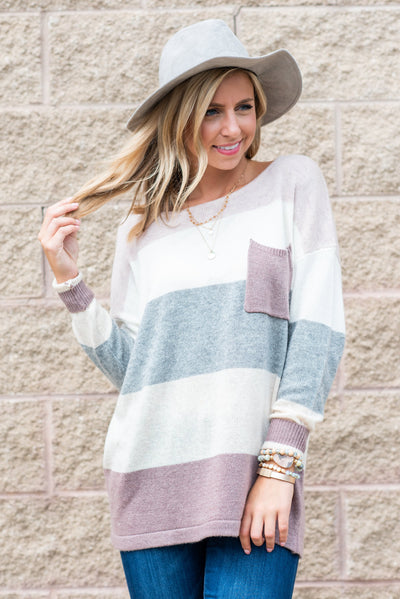 Power In Comfort Sweater, Mauve
