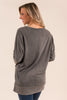 Pretty In Pockets Top, Charcoal