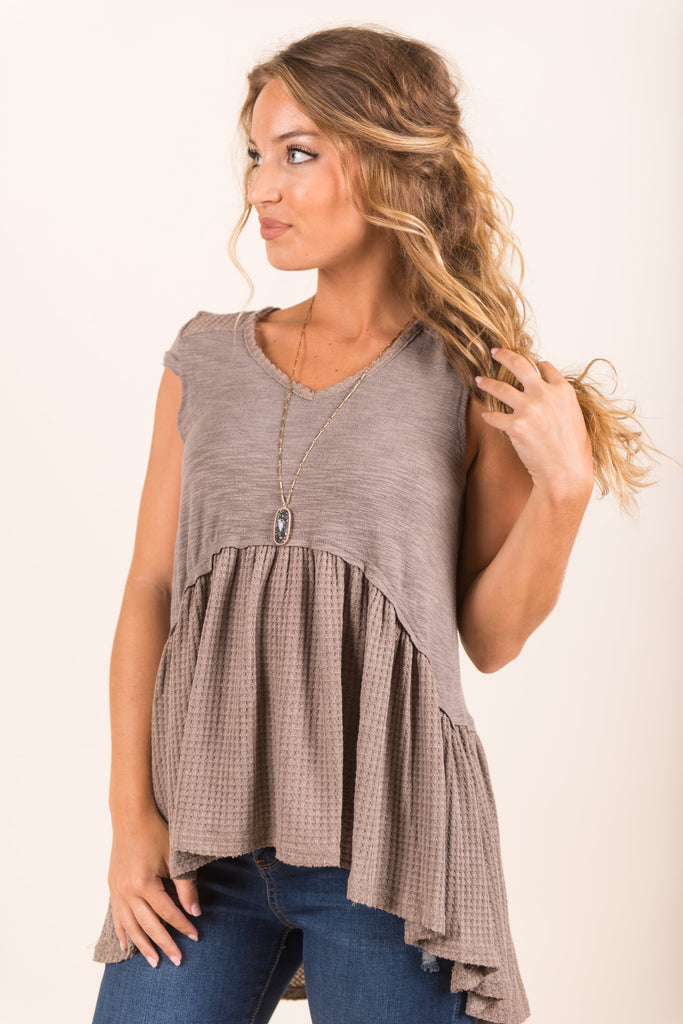 Sing With Me Top, Taupe