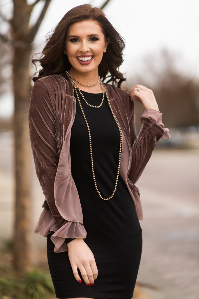 What A Babe Jacket, Dark Mauve