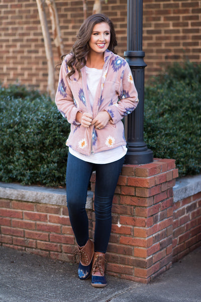 Traveling Westward Jacket, Blush