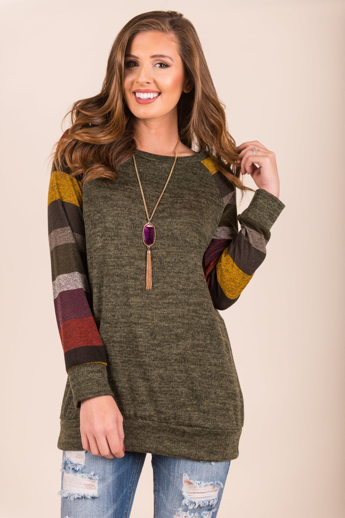 Warm Embrace Top, Olive