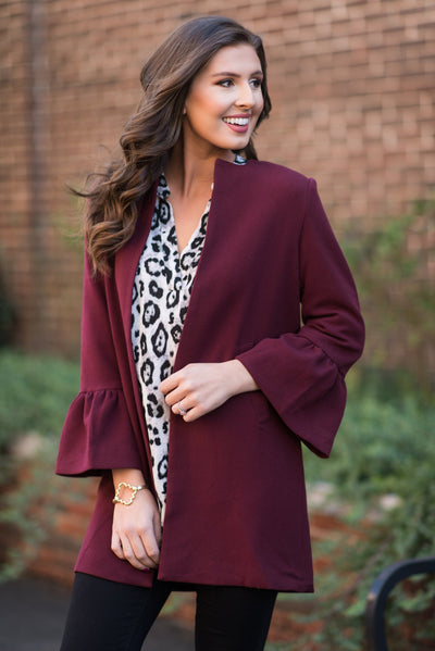Business Partner Jacket, Burgundy
