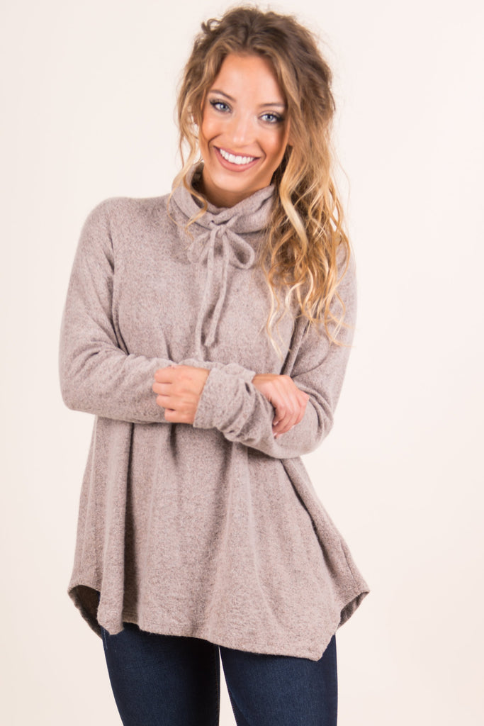 Feeling The Love Top, Taupe
