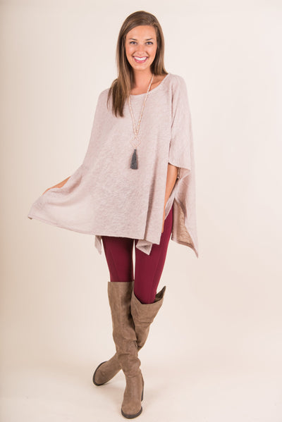 Out And About Poncho, Taupe