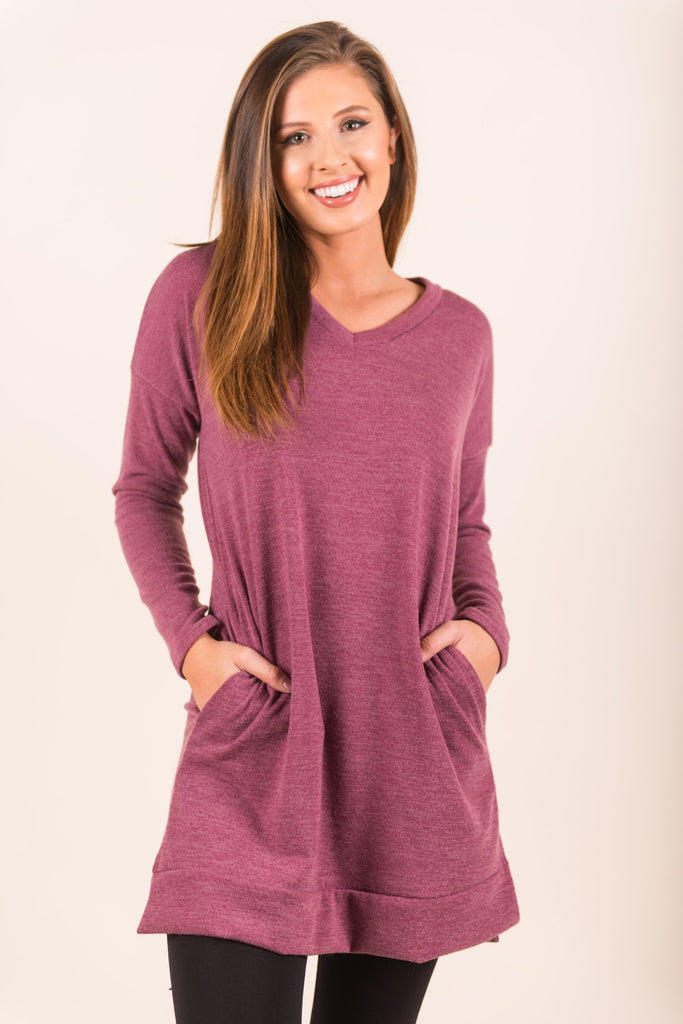 Came A Little Closer Tunic, Mauve