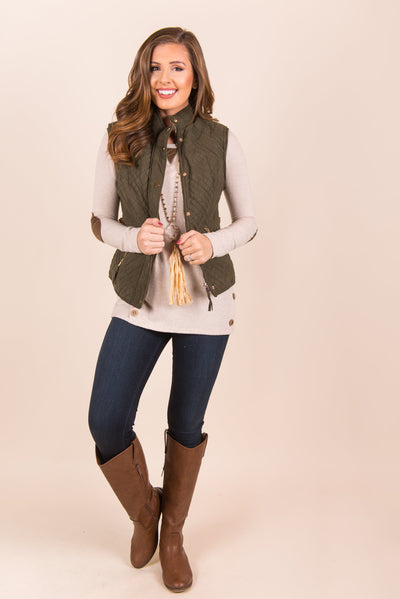 All You Wanted Vest, Forest Green