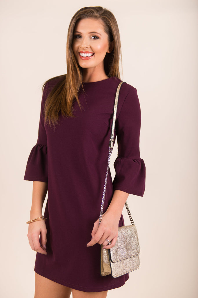 Dressed For Perfection Dress, Purple