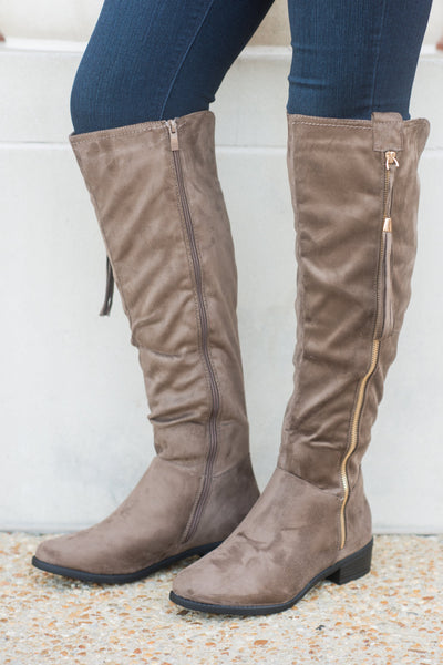 Your New BFF Boots, Dark Taupe