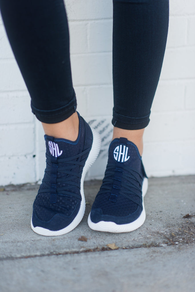 Aim To Be Active Matte Navy Blue Sneakers