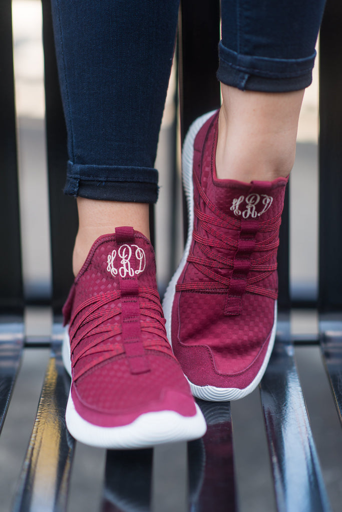 Aim To Be Active Sneakers, Matte Wine