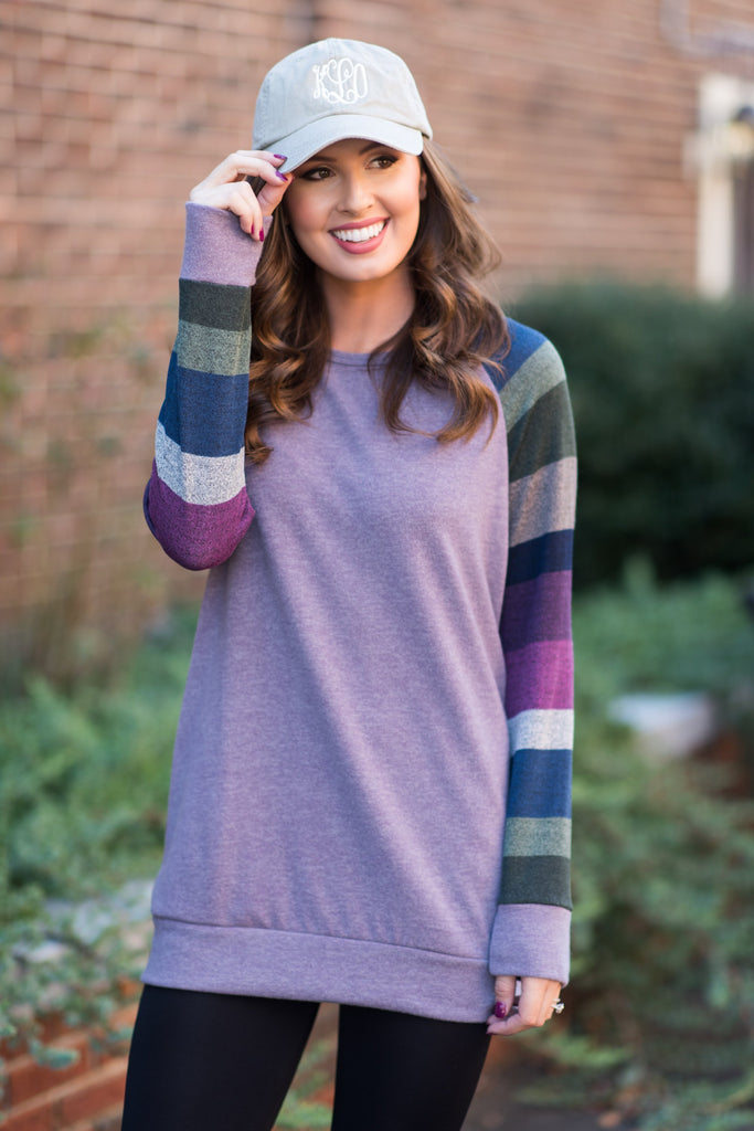 Cozy Embrace Tunic, Purple Bean