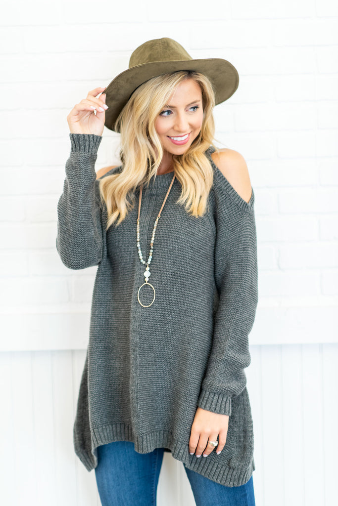 The Melanie Sweater, Charcoal