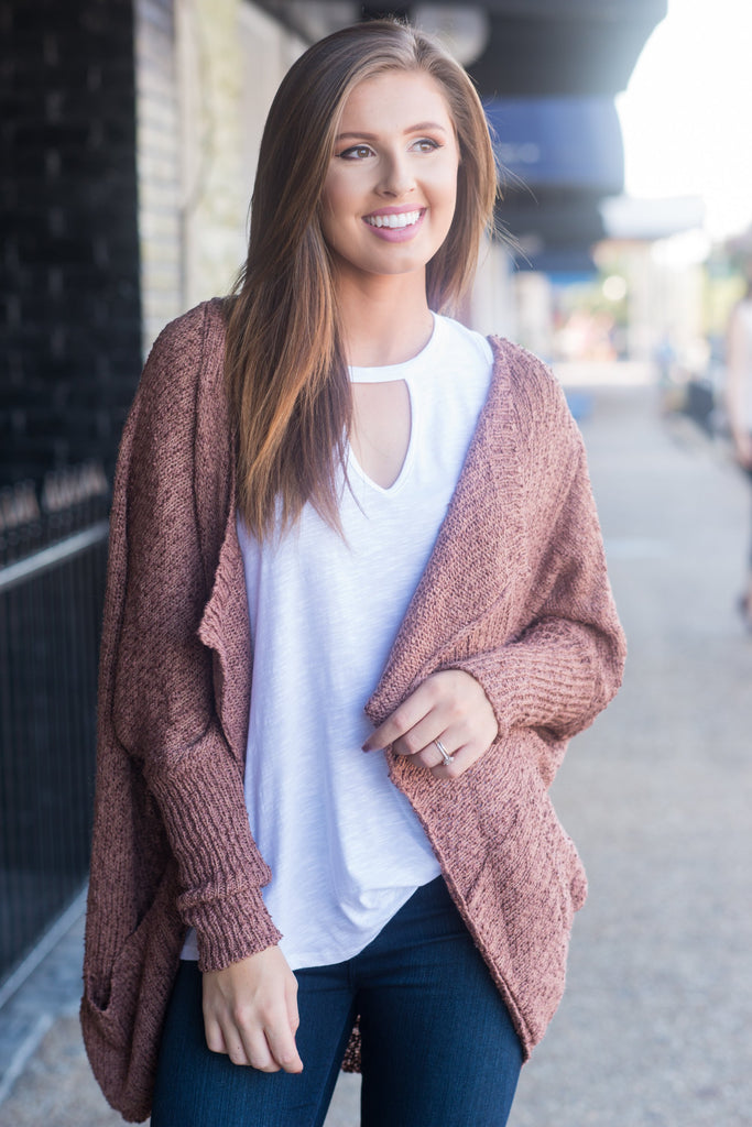 Perfect Persona Cardigan, Rust