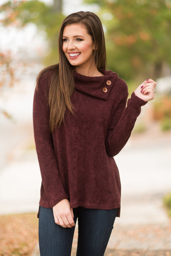 Must See You Again Sweater, Maroon