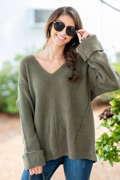 Winter Travels Sweater, Sage