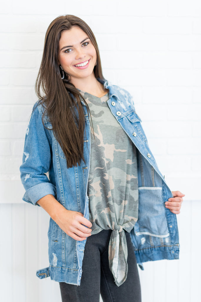 At It Again Jacket, Light Denim