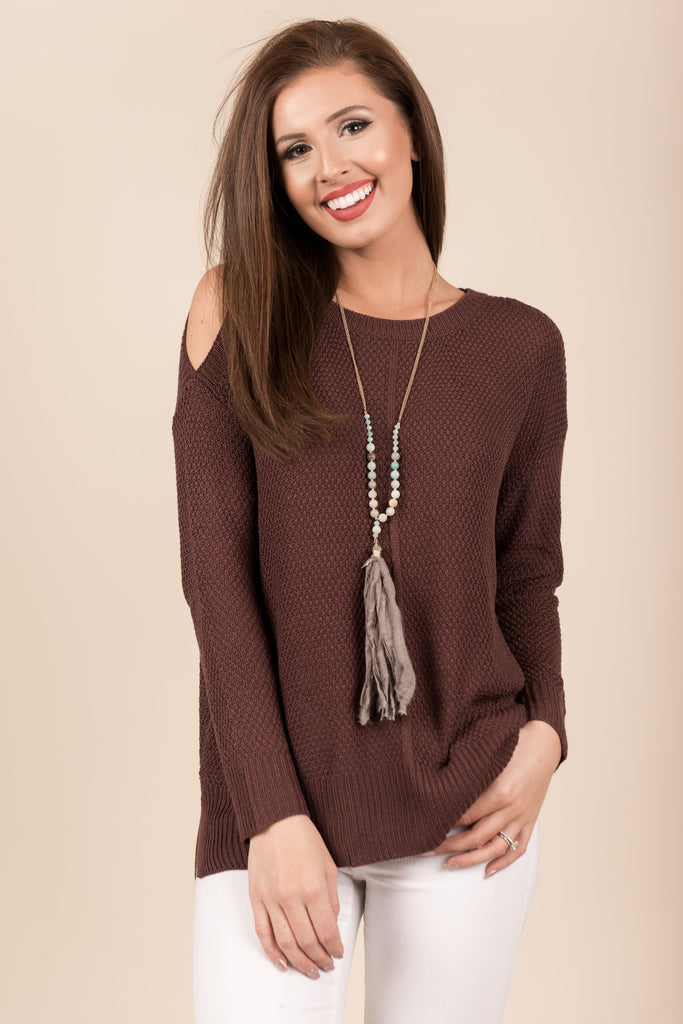 Just How I Like It Sweater, Plum