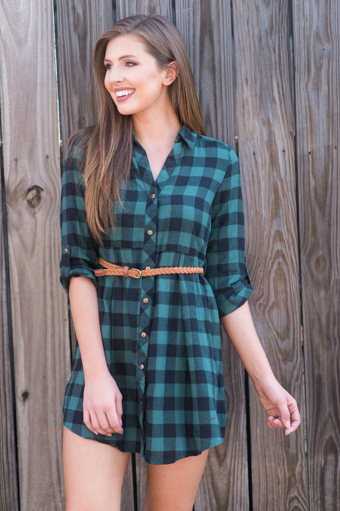 Awesome In Autumn Dress, Green-Black