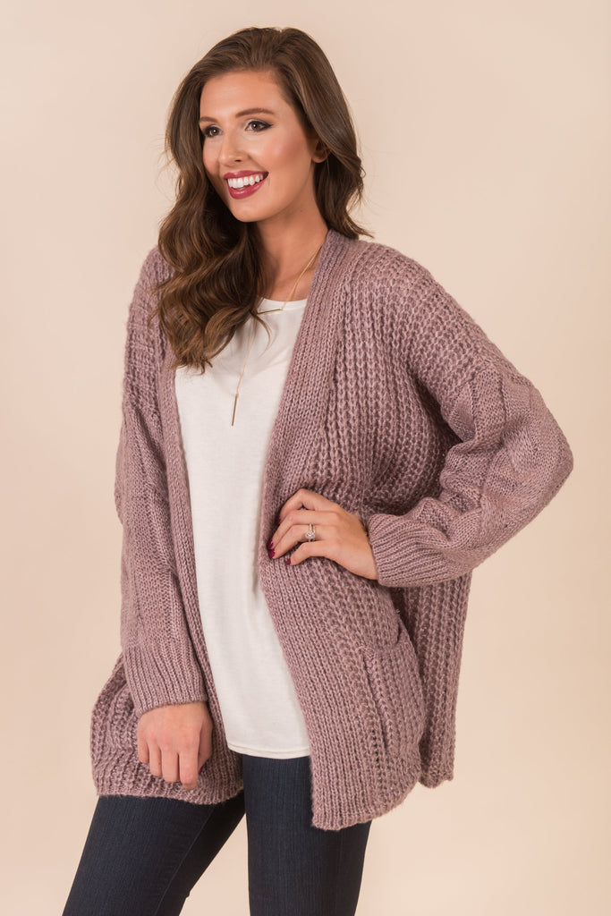 Keeping Secrets Cardigan, Lilac