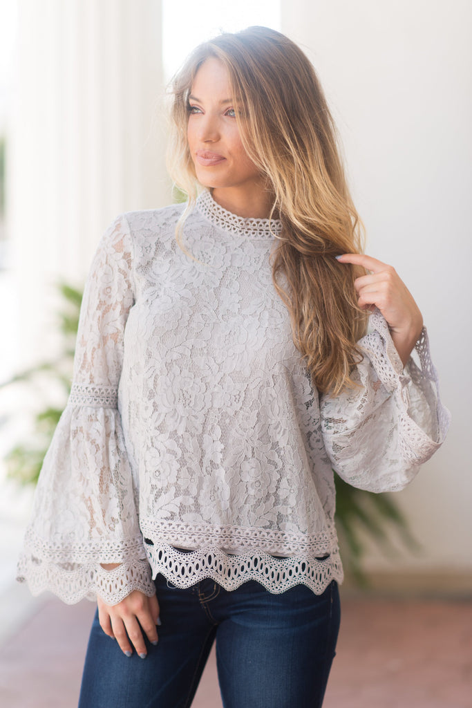 First Lady Top, Gray